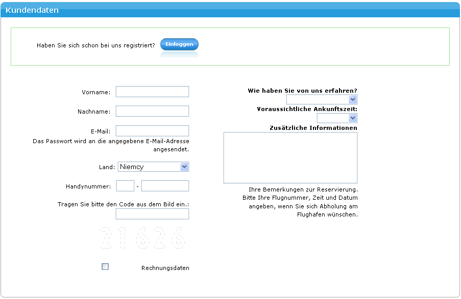 "If you have an account, you need to log in in LeoApart's  system and give the code of the previous reservation or e-mail address and password used during the registration; if you don't have an account with us, you need to register in LeoApart's system by adding your personal details in the column ""The customer's data"""